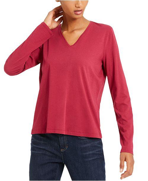 Eileen Fisher V-Neck Organic Cotton Top