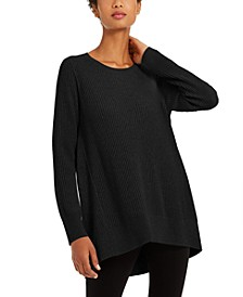Crewneck Ribbed Tunic Sweater, Regular & Petites