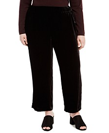 Pull-On Velvet Ankle Pants