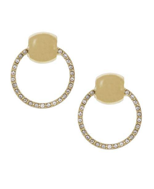 Christian Siriano Gold Tone Door Knocker Earrings