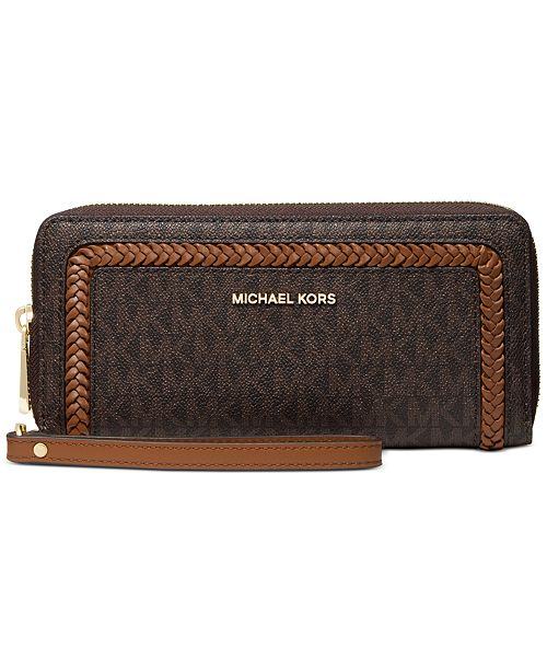Michael Kors Leather Logo Continental Wallet