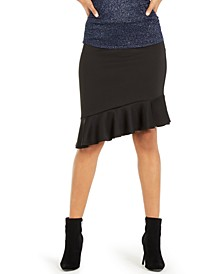 Asymmetrical Ruffle Scuba Skirt, Created For Macy's