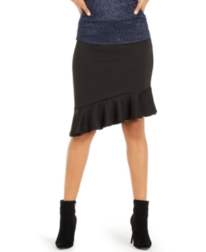 Thalia Sodi Asymmetrical Ruffle Scuba Skirt, Created for Macy's