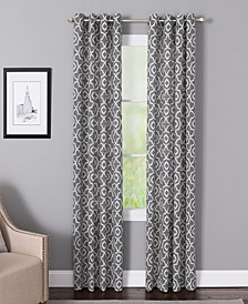 "Bennett 50"" x 95"" Geometric Print Curtain Panel"