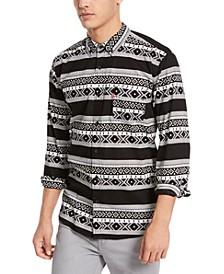 Men's Norte Regular-Fit Geo-Stripe Shirt