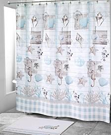 Farmhouse Shell Shower Curtain Collection