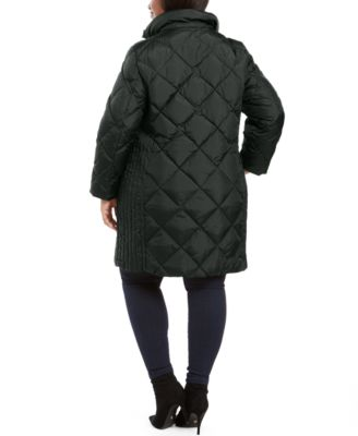 LONDON FOG Womens Diamond Down Quilting with Removable Hood