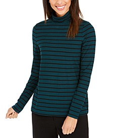 Striped Turtleneck Top, Created for Macy's