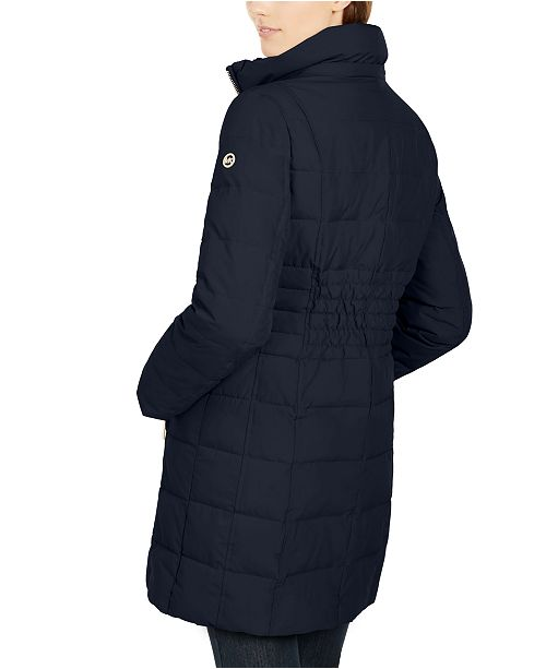 Hooded Faux Fur Trim Down Puffer Coat, Created for Macy's
