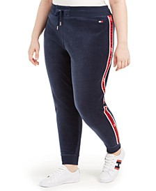 Plus Size Logo-Trim Jogger Sweatpants