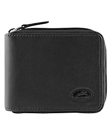 Manchester Collection Men's RFID Secure Zippered Wallet with Coin Pocket