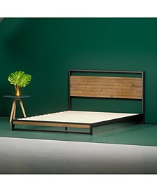 Suzanne Metal and Wood Platform Bed with Headboard Collection