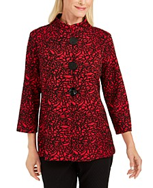 Petite Jacquard Jacket, Created For Macy's