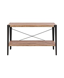 Modern Industrial Console Table with Metal Legs and Distressed Wood Finish