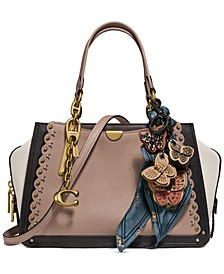 Scalloped Leather Dreamer Satchel