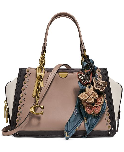 COACH Scalloped Leather Dreamer Satchel