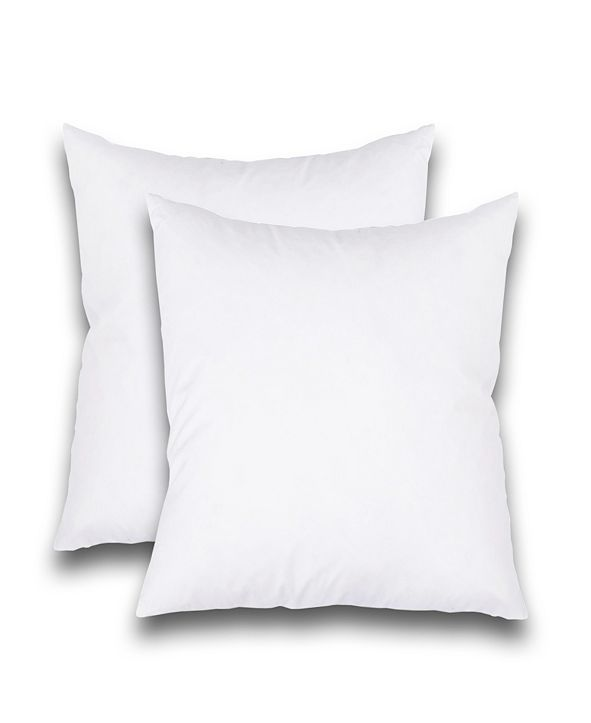 """FEATHER & STITCH, NY Feather Stitch, NY Luxury 18"""" x 18"""" Pillow Insert 2-Pack"""