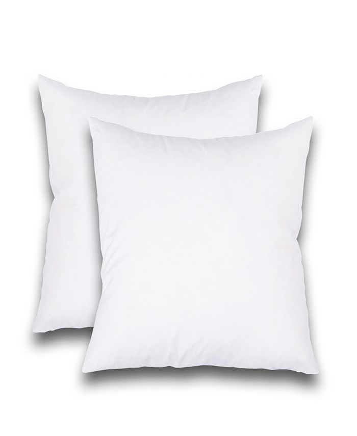 """FEATHER & STITCH, NY - Luxury 18"""" x 18"""" Pillow Insert 2-Pack"""