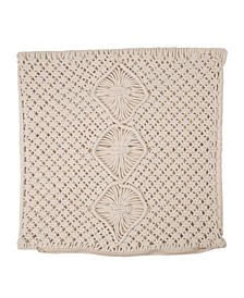 Diamond Handmade Cotton Rope Pillow Cover