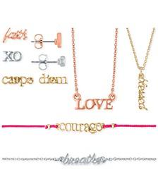 Tri-Tone Stud Earrings, Pendant Necklace & Bracelet 7-Pc. Gift Calendar Set