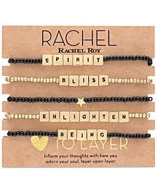 Gold-Tone 5-Pc. Set Bliss Beaded Stretch Bracelets