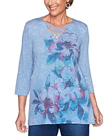 Autumn Harvest Floral-Print Top