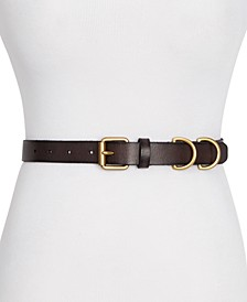 Frye & Co D-Ring Loop Skinny Leather Belt