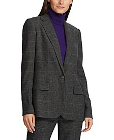 Wool-Blend Suit Jacket