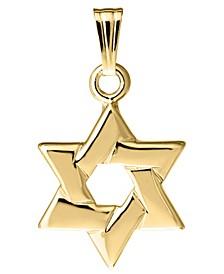 Children's Star of David Pendant in 14k Yellow Gold