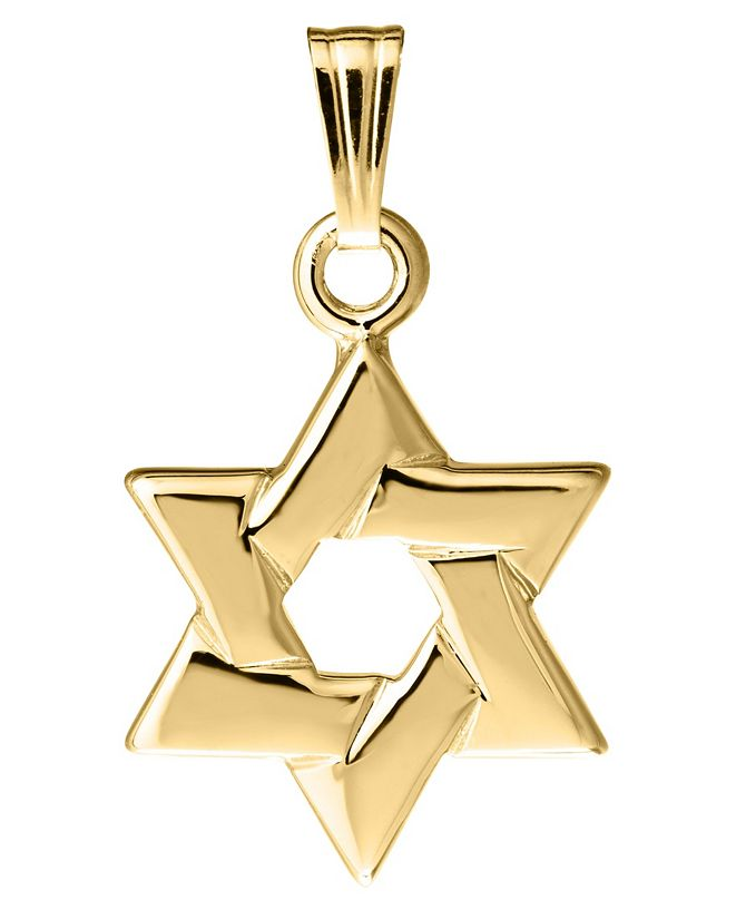 Macy's Children's Star of David Pendant in 14k Yellow Gold