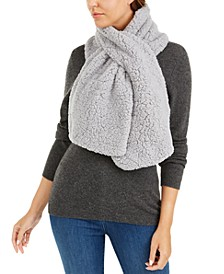 Recycled Knit and Sherpa Fleece Scarf