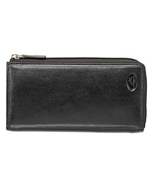 Equestrian-2 Collection RFID Secure Large Trifold Wallet