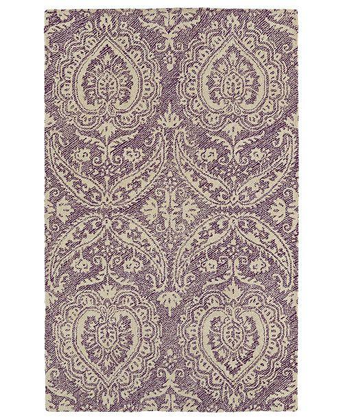 Kaleen Weathered WTR01-95 Purple 8' x 10' Area Rug