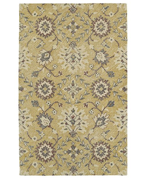 Kaleen Weathered WTR07-05 Gold 4 'x 6' Area Rug