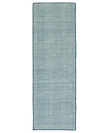 Ziggy ZIG01-10 Denim 2' x 6' Runner Rug