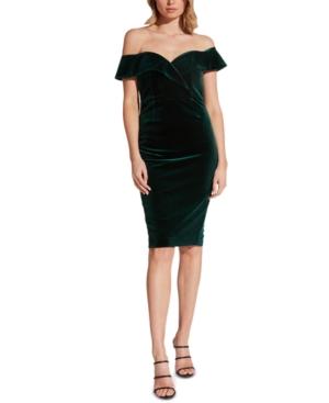 Bardot Dresses OFF-THE-SHOULDER SWEETHEART VELVET DRESS