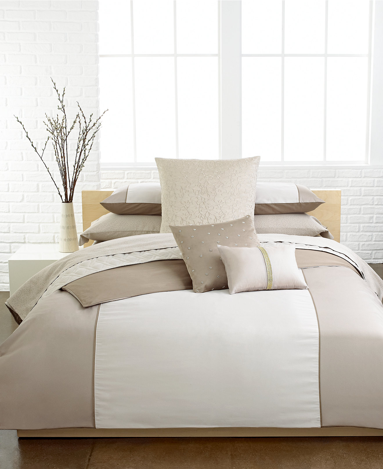 Calvin Klein Duvet Cover Sweetgalas - Brown pattern bedding double duvet set calvin klein bamboo bedding