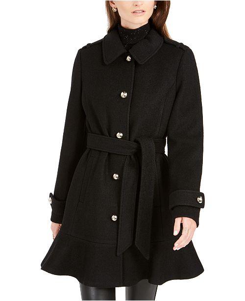 kate spade new york Skirted Belted Coat