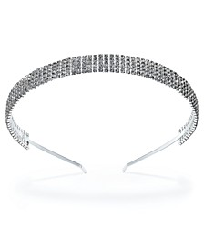 INC Silver-Tone Crystal Headband, Created For Macy's
