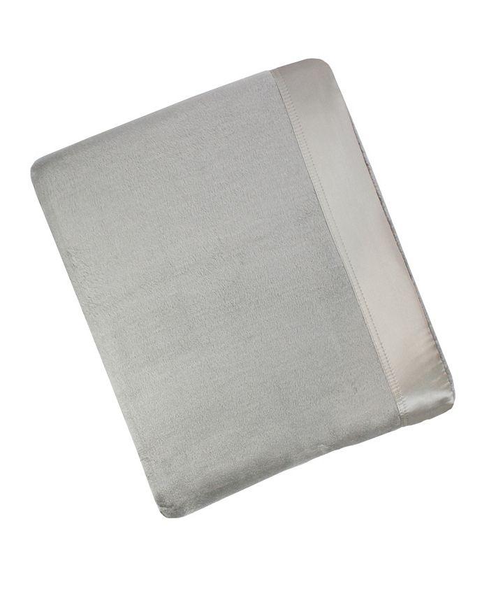 MELANGE HOME - Plaza Full/Queen Cotton Blanket With Silk Border