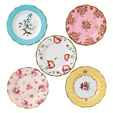 100 Years 1950-1990 5-Piece Plate Set