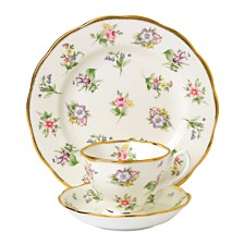 Royal Albert 100 Years 1920 3-Piece Set , Teacup Saucer & Plate - Spring Meadow