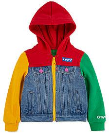 Levi's® Little Girls Crayola Hooded Colorblocked Denim Trucker Jacket