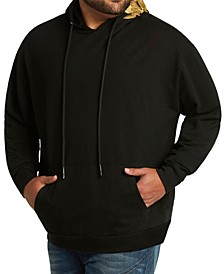 MVP Collections Men's Big & Tall Long Sleeve Hoodie with Gold Embroidery