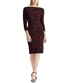 Lauren Ralph Lauren Long-Sleeve Jersey Dress