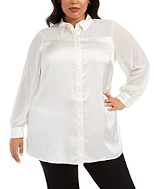 Plus Size Embellished Blouse, Created For Macy's