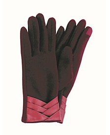 Women's Pleated Cuff Jersey Touchscreen Glove