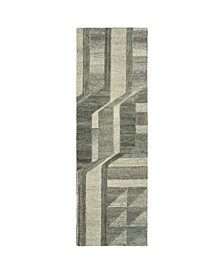 "Alzada ALZ02-49 Brown 2'6"" x 8' Runner Rug"