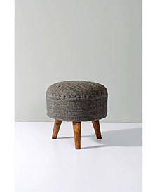 Upholstered Round Accent and Foot Stool