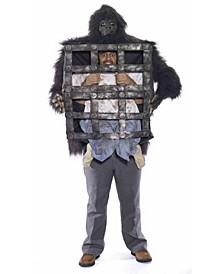 BuySeason Men's Gorilla With Cage Costume